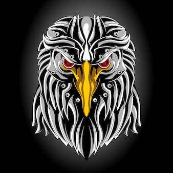 Cabeza de águila de metal