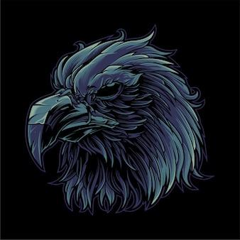 Cabeza de águila negra