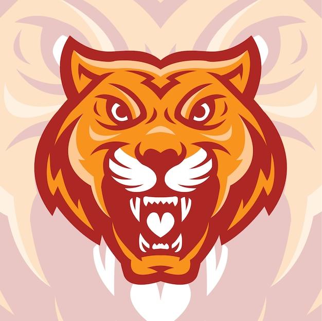 Cabeza de animal tigre