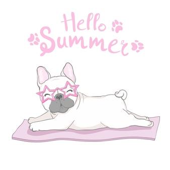 Cabeza de bulldog francés aislada. ilustración vectorial