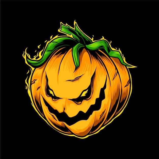 Cabeza de calabaza de haloween