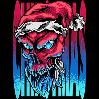 Cabeza de calavera navidad