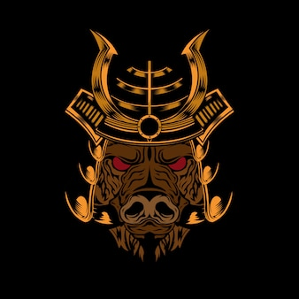 Cabeza de cerdo samurai