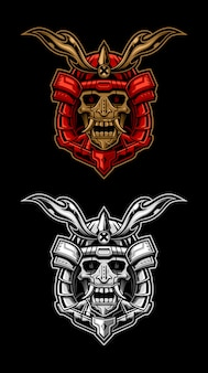 Cabeza de cráneo samurai