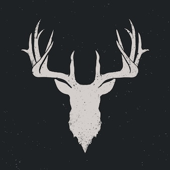 Cabeza de ciervo invertir silueta
