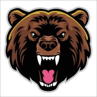 Cabeza de oso enojado