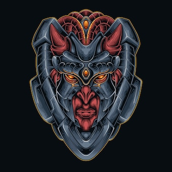 Cabeza de diablo robótica