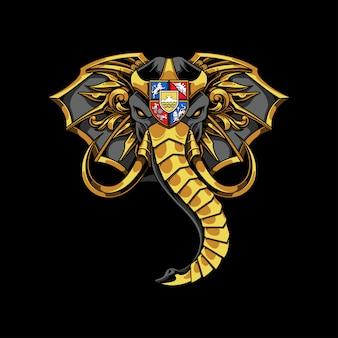 Cabeza de elefante adornado ilustración