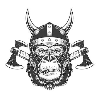 Cabeza de gorila seria monocromo vintage