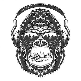 Cabeza de gorila