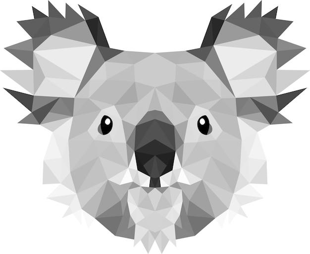 Cabeza de koala en puntos triangulares, tan lindo que todos aman