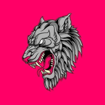 Cabeza de lobo asesino