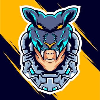 Cabeza lobo hombre esports
