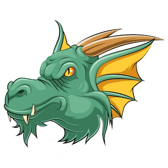 Cabeza de mascota de un dragón