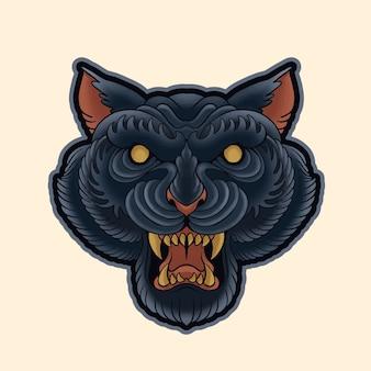 Cabeza de pantera negra