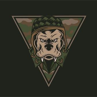 Cabeza de perro del ejército