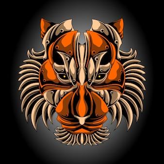 Cabeza de tigre de hierro