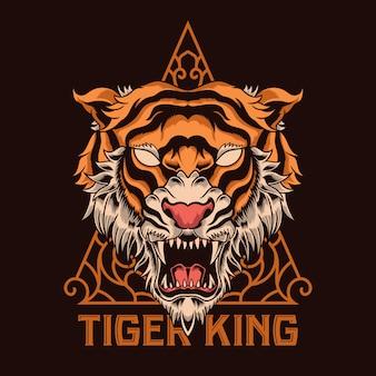 Cabeza de tigre ilustración