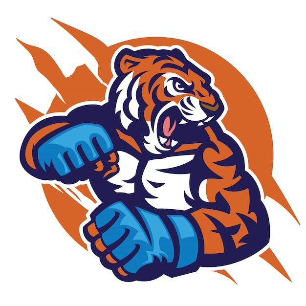 Cabeza de tigre de luchador mms