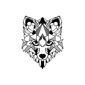 Cabeza de zorro geométrica