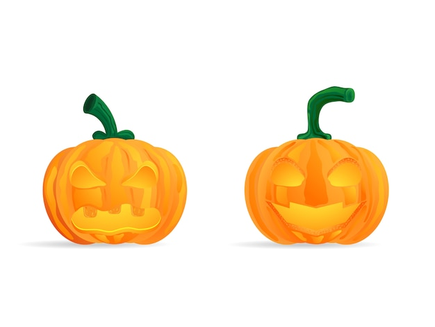 Cabezas de calabaza feliz halloween