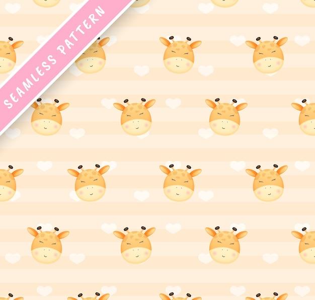 Cabezas de jirafa de patrones sin fisuras