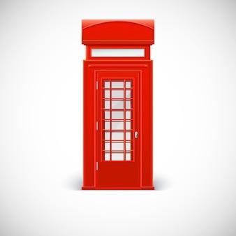 Cabina telefónica, estilo londinense. ilustración