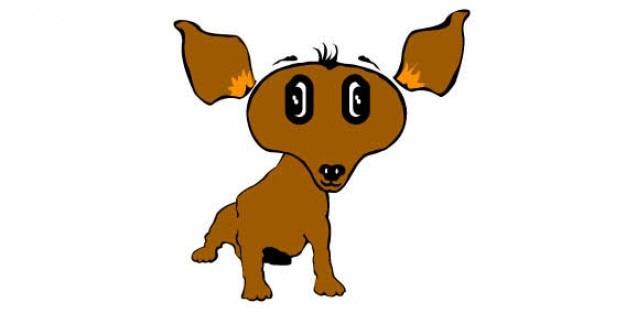 Cachorro de dibujos animados vectoriales