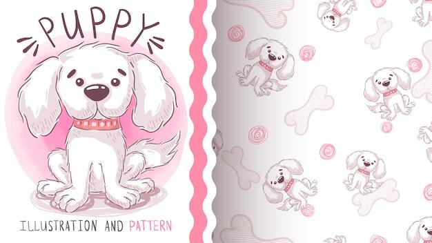 Cachorro perro woof - patrón sin costuras