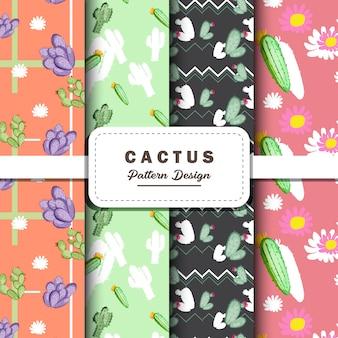 Cactus dibujo diseño de patrón digital