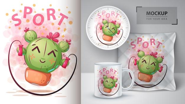 Cactus divertidos dibujos animados