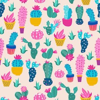 Cactus estampado colorido