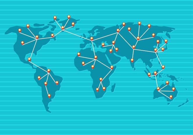 World map connected fotos y vectores gratis cada parte del mundo est conectada a una sola red gumiabroncs Image collections