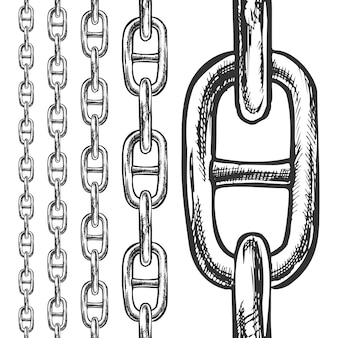 Cadena y enlaces de patrones sin fisuras en diferentes escalas