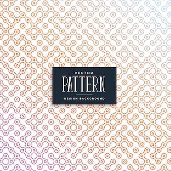 Cadena de eslabones elegante estilo truchet patrón