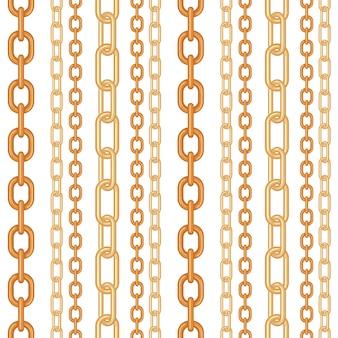 Cadena de oro joyas de patrones sin fisuras.