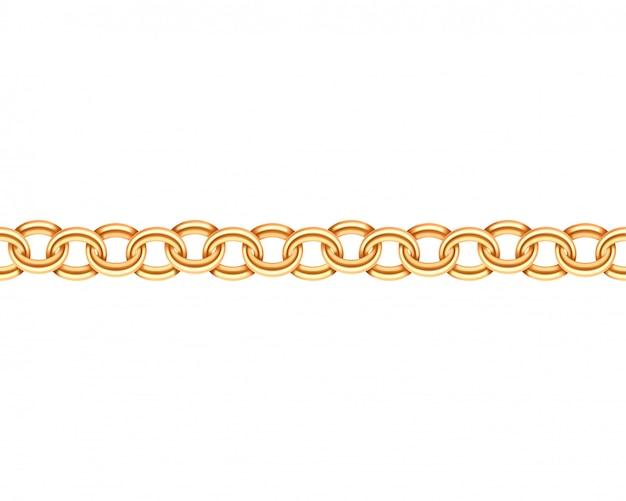 Cadena de oro de patrones sin fisuras