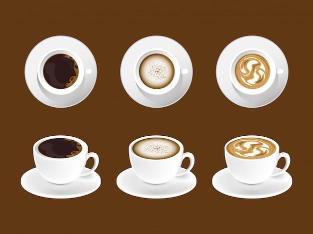 Café café latte diseño.