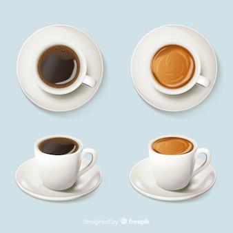 Café en tazas