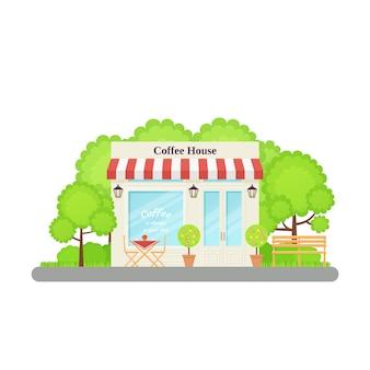 Cafetería, cafetería. ilustración en piso.