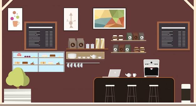 Cafetería moderna cafetería diseño de interiores
