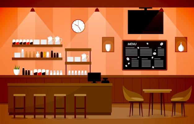 Cafetería moderna cafetería muebles interiores restaurante