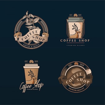 Cafetería con paquete de logo