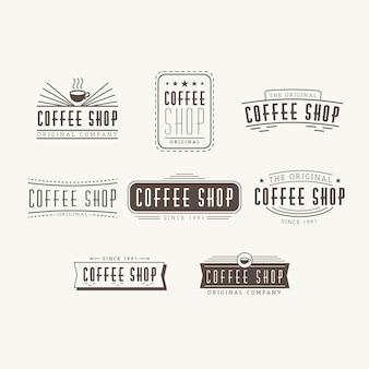 Cafetería retro logo set