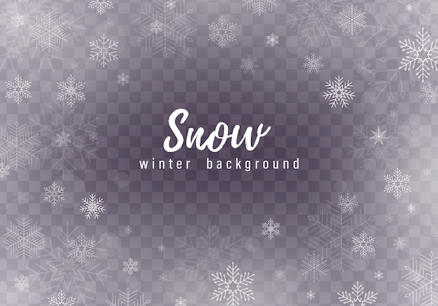 Caída de fondo de nieve de navidad, copos de nieve, fuertes nevadas.