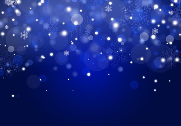 La caída de nieve de navidad. copos de nieve, fuertes nevadas.