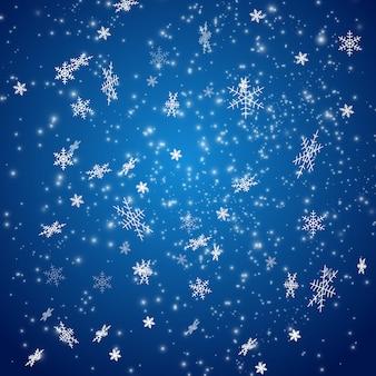 La caída de nieve de navidad.