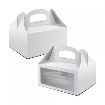 Caja de cartón para pasteles. para comida rápida, regalo, etc.