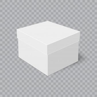 Caja de cartón realista con suave sombra