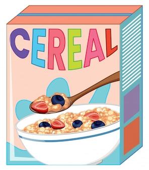 Caja de cereales aislada en blanco